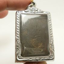 LP BOON BUDDHA IN SACRED TEMPLE THAI PEACEFUL HAPPY LUCKY SUCCESS AMULET PENDANT image 5