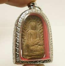 PHRA LUE LAMPOON THAI BUDDHISM ANTIQUE BUDDHA LUCKY SUCCESS AMULET RARE PENDANT image 2