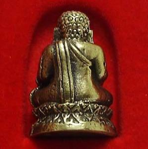 TINY MINIATURE HAPPY BUDDHA SANGKAJAI HOTEI BUDAI REAL THAI MINI AMULET RICH WIN image 4