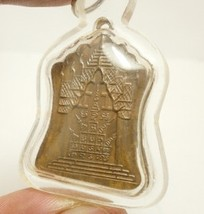 1971 LP PHROM COIN MIRACLE FORTUNE YANTRA THAI BUDDHA AMULET WATERPROOF PENDANT image 3