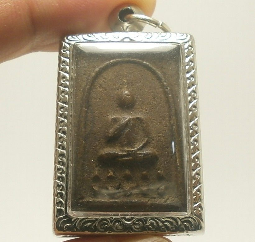 LP BOON BUDDHA BLESS IN SACRED TEMPLE THAI PEACEFUL LUCKY SUCCESS AMULET PENDANT