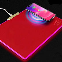 UX W-01 LED Qi Wireless Charger Charging Mouse Pad Mousepad Mat for Note 8 S9 X image 4