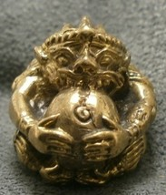 LORD HANUMAN MONKEY MUAY THAI FIGHTER LIFE PROTECTION MINI YANTRA BALL AMULET NR image 6