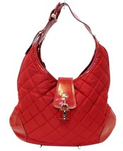 Authentic BURBERRY Red Canvas Shoulder Bag CC402 - $6.754,48 MXN