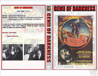 GENII OF DARKNESS '61 NOSTRADAMUS VAMPIRE DVD PLUS CASE & ARTWORK