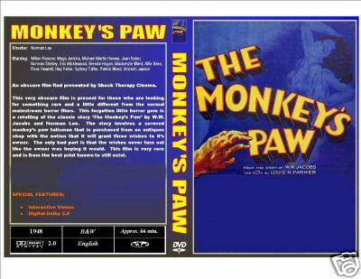 THE MONKEY'S PAW (1948) EXCELLENT PRINT - CASE & ARTWORK
