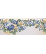 Blue and Canary Yellow Flowers 5506320 Wallpaper Border - $19.90