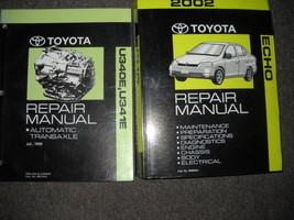2002 Toyota Echo Service Repair Shop Manual Set Oem W Automatic Transaxle Book - $143.50