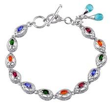 Tanzanite Russian Chrome Diopside Apatite Fire Opal Garnet  Bracelet 7.5... - $48.84