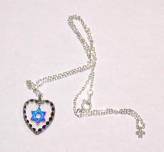 Judaica Magen David Star Crystal Pendant Multicolored Sparkle Venice Italy image 2