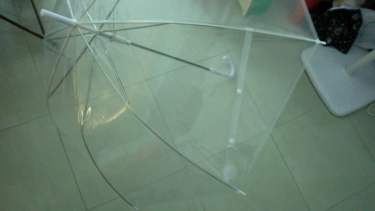 Clear umbrella, for elderly person or kids