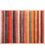 9'x12' Multi Stripe Gabbeh Loribaft Best Quality Handknotted 100% Woolen... - $1,672.11