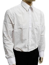 NEW DESIRE COLLECTION MEN CLASSIC LONG SLEEVE BUTTON UP CASUAL DRESS SHIRT WHITE image 2