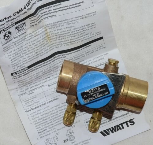 Watts Bronze Balancing Ball Valve Design Position Indicator Memory Stop 0856739