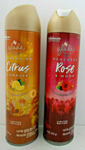 Lot 2 Glade Spray Sparkling Citrus & Peaceful Rose Wood Limited Edition 8 Oz - $9.89
