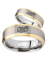 His Hers Mountain Dew Step Edges Gold 2 Tone Tungsten Men's Engagement Ring Set - $79.98