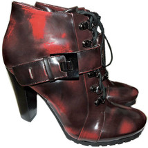 Vince Camuto Ankle Lace Up Combat Buckle Boots Booties 8 / 38 image 2