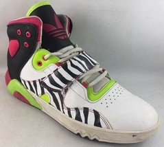 Women's Size 7.5M Adidas Basketball Sneakers Shoes multi color x45 - $24.50