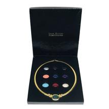 Vintage Joan Rivers Classic Collection Omega 10 Color Slide Necklace - $56.42
