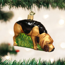 Bloodhound Glass Ornament - $16.95