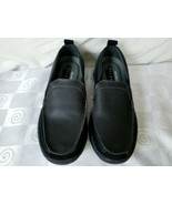 Skechers Relaxed Fit Black Leather Suede Comfort Slip On Loafers Shoes - $46.50