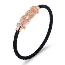 Stainless Steel Bracelet Cord Screw Cuff Bracelets Buckle Cable Wire Twist Brace - $26.94