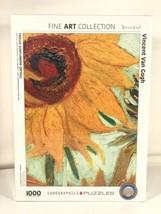 Eurographics Jigsaw Puzzle Vincent Van Gogh Twelve Sunflowers 1000 PieceMuseum - $39.59