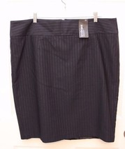 Lane Bryant $55 Pinstripe Striped  Pencil Straight Skirt Plus 20 GRAY NWT - $22.74