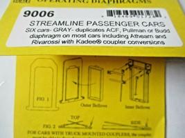 American Limited # 9006 Streamline Passenger Car Gray Diaphragms HO-Scale image 1