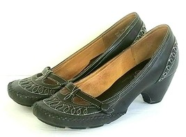 Clarks Indigo Womens Sz 6.5 M Shoes Brown Leather Mary Jane Pumps Style # 83927 - $36.57