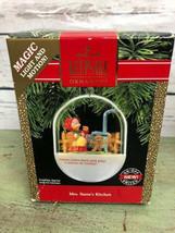 1990 Hallmark Ornament Mrs. Santa's Kitchen Magic Light & Sound - $14.85