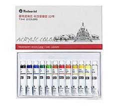 Montmar Art Acrylic Paint Painting 12 Colors 7.5ml Tubes Set
