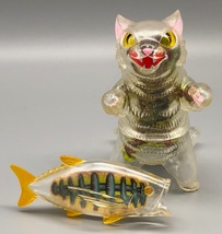 "Max Toy X-Ray Negora (with paper insert ""guts"") and Fish image 1"