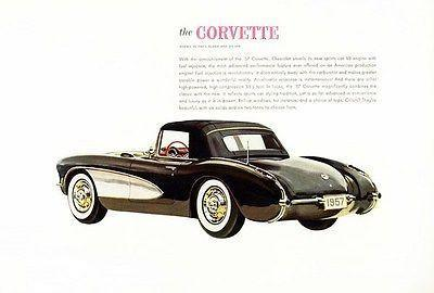 Primary image for 1957 Chevrolet Corvette - Promotional Advertising Poster