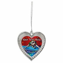 Holly Road Wrestling Greco-Roman Merry Christmas Ornament Frame Heart or Wreath  - $17.81