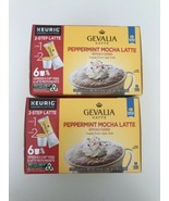 Gevalia Peppermint Mocha Latte Espresso K-cup 6 Pods & Froth Packets Lot... - $24.89