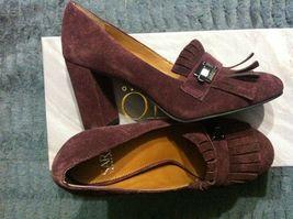 Franco Sarto Damen Neu Burgunder Leder/Wildleder Oberseite Anzug Schuhe Größe:6 image 3