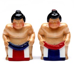 Sumo Wrestler  Salt & Pepper Shaker - $17.23