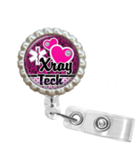 Hot Pink X-Ray Tech Retractable Reel ID Name Tag Badge Holder - 1.11 - $10.00