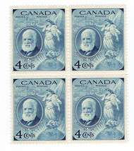 1947 Alexander Graham Bell Block of 4 Canada Stamps Catalog Number 274 MNH