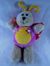 Starbucks Bearista Pink Yellow Butterfly Teddy Bears Plush 74th Edition 2008 - $10.39
