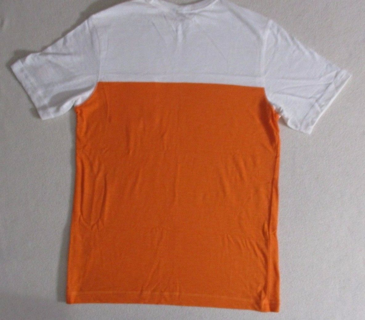 Old Navy Boys T Shirt XL Orange Solid Crew Short Sleeves Everyday Cotton 1777