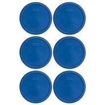 Pyrex 7401-PC 3 Cup Lake Blue Round Plastic Lid (6, Lake Blue) - $20.14