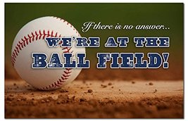 If there is no answer...We're at the Ball Field Baseball Doormat - $33.99