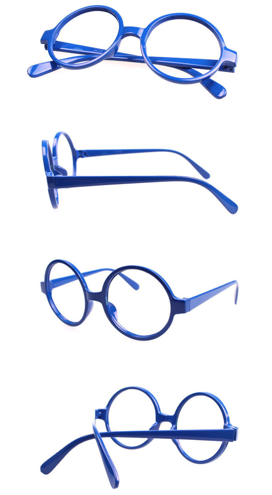 Classic Vintage Round Wizard Costume Nerdy Glasses Frames NO LENS Spectacle Wear image 4