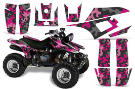 ATV Graphics kit Sticker Decal for Yamaha Warrior 350 All Years Camoplate Pink - $169.95
