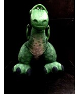 Fisher Price Green Dinosaur Plush Toy Story Plastic Head Arms Squeeze Ma... - $26.67
