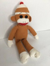 Ty Beanie Buddies Baby Socks the Sock Monkey Tan Corduroy Tag 2011 Retir... - $12.86