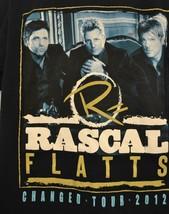 Rascal Flatts Concert T-Shirt Changed Tour 2012 Black Size Medium - $13.79
