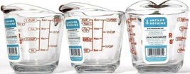 3 Anchor Hocking 8 oz Glass Easy Read Tempered Measuring Cup Bake Microwave Safe - $26.99